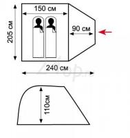 Tramp Lite палатка Fly 2 (Зеленый)