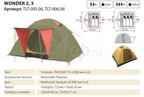 Tramp Lite палатка Wonder 3 (Зеленый)