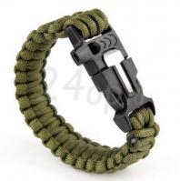 Купить Tramp браслет выживальщика (свисток, огниво/2 метра паракорда) (оливковый) TRA-232-o